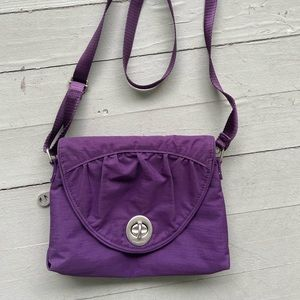 Baggalini purple Nassau crossbody travel purse bag